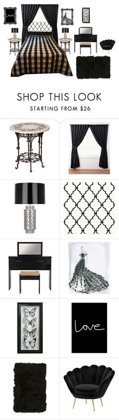 """Cozee Quilts"" by bamasbabes ❤ liked on Polyvore featuring Bianco Bianchi, Robert Abbey, RoomMates Decor, Native State, Nourison and Eichholtz"