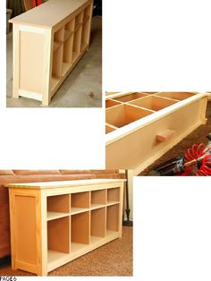 Sofa Table Plans - Ohhh daddy, I think I found a project for you!  :oP