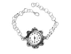 Silver Quartz Watch Bracelet