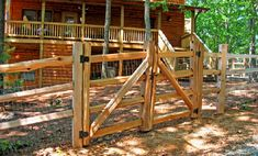 cedar 3 hole split rail fence dual drive gate