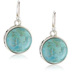 "Barse Sterling Silver ""Arabesque"" Turquoise Round Dangle Earrings .. endless.com"
