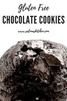 These gluten free chocolate cookies are loaded with cocoa powder, chocolate chunks and flakey salt and perfect for any occasion. #chocolatecookies #glutenfreechocolatecookies #glutenfreecookies Best Gluten Free Desserts, Gluten Free Cookie Recipes, Gluten Free Cakes, Best Cookie Recipes, Fun Desserts, Gluten Free Chocolate Cookies, Chocolate Desserts, Cobbler, Fudge