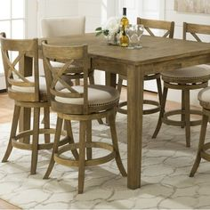 <p>Perfect for every occasion from casual weeknight meals to sophisticated soirees, the lovely Baptiste Counter Height Pub Table is a must-have addition to your home.</p><p>Showcasing a light tobacco color with a subtly distressed patina finish, rectangular shape, and counter height design, this pub table is brimming with classic, clean-lined style.</p><p>Try setting it in a corner of your kitchen for the perfect place to enjoy quick weekday breakfasts ...