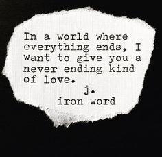 Love is never ending.