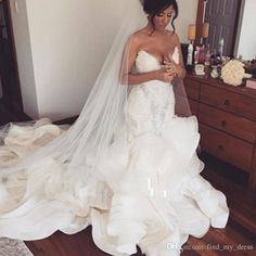 Cheap bridal gown, Buy Quality mermaid wedding dresses directly from China wedding dress Suppliers: Long curvy shape Lace 2017 Mermaid Wedding Dress Organza Applique Beading Custom Made Sweetheart Off Shoulder Bride Bridal Gowns Wedding Dress Organza, Sexy Wedding Dresses, Bridal Dresses, Wedding Gowns, Wedding Veil, Dress Lace, Ivory Wedding, Bridesmaid Dresses, Event Dresses
