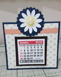 Mini calendário de mesa 2018