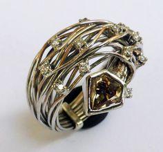 Diamond ring 122 ct handmade engagement by DesignerJewelryKodre, €6,300.00
