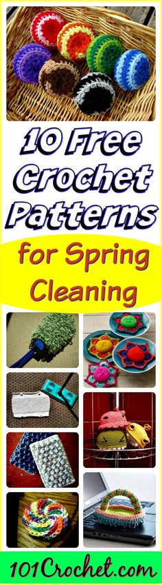10 Free Crochet Patterns for Spring Cleaning | 101 Crochet
