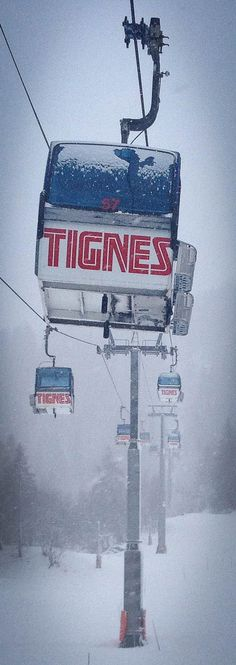 The ski lift out of Tignes les Brévières