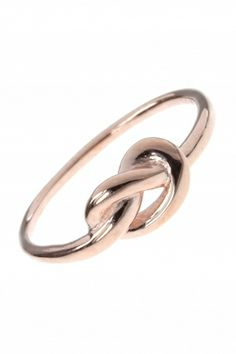 rose gold plated #infinity #knot #ring I designed for NEW ONE I NEWONE-SHOP.COM