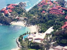 Las Brisas.....it was Club med huatulco when we were there. Great facility for exercise...very hilly and vast. Great memories.