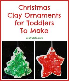 Christmas Clay Ornaments for Toddlers To Make from Craftulate
