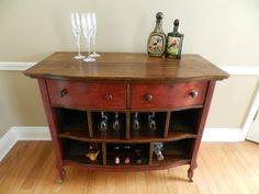 Antique dresser rehabbed into a wine bar :)  https://www.facebook.com/furn.rehab