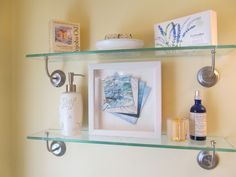 Small Seascape Inspired Abstract perfect for bathroom shelves or intimate spaces.