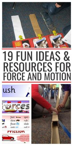 19 Fun Ideas & Resources for Force and Motion