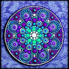 Periwinkle Purple Ombré Mandala Art