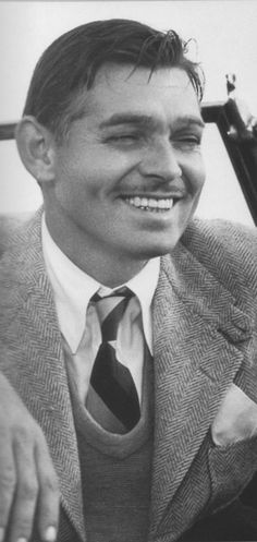 Clark Gable...classic, all time handsome man.