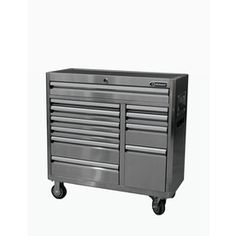 Kobalt 41-in X 41-in 11-drawer Ball-bearing Stainless Steel Tool Cabinet…