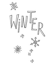 Happy Winter Season Everyone Coloring Page - NetArt Online Coloring Pages, Preschool Learning, Free Coloring, Winter Season, Have Fun, Seasons, Happy, Ribbon Embroidery Tutorial, Winter Time