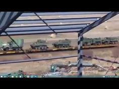 JADE HELM: Train with Massive Military Equipment Headed for West Coast from Canada - YouTube