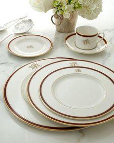 Monogrammed dinnerware...
