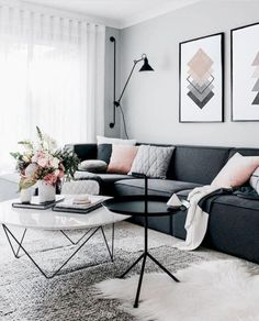 Amazing Modern Living Room Scandinavian Decoration for Your Home Living Room Decor Apartment, Apartment Living Room, Living Room Scandinavian, Room Inspiration, House Interior, Apartment Decor, Living Room Grey, Living Decor, Scandinavian Design Living Room