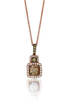 #choolate diamond pendant. @L E Vian Jewelry  #stevensdiamondjewelers