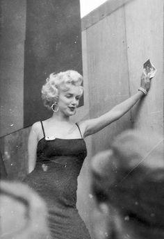 A U.S. Soldier's snapshot of Marilyn Monroe in Korea visiting troops, 1954