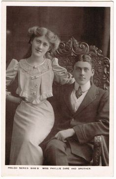Phyllis Dare and her brother Jack