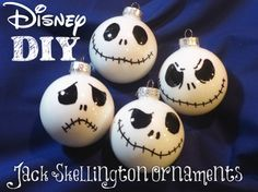 DIY – Jack Skellington Ornaments VIDEO (The Nightmare Before Christmas)