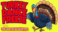 Thanksgiving Songs for Children - Turkey Dance Freeze - Turkey Kids Song...