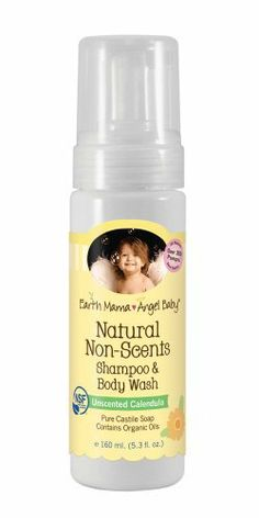 Earth Mama Angel Baby Shampoo and Body Wash, Natural Non-Scents, 5.3 Ounce by Earth Mama Angel Baby. $9.66. Oregon tilth certified NSF/ANSI 305 certified contains organic oils. Unscented calendula. Pure castile soap; NO toxins. No petrochemicals, petroleum or petroleum byproducts. No antibacterial pesticides, preservatives, emulsifiers or surfactants. Hospital recommended natural non-scents shampoo and body wash is naturally unscented, not masked, so it's perfect for...