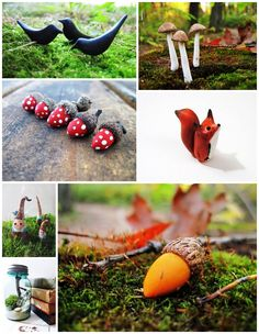 i like the acorns. I would like to paint rocks like that and use it for mushrooms in my terrarium