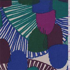 Beige Multi Print Silk Jersey Knit