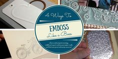Embossing is a great way to add texture and dimension to your scrapbook pages, homemade cards, or other paper crafts. Learn how to emboss on The Paper.