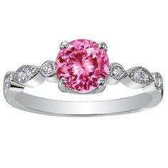 Pink sapphire/tiara, ethical stones