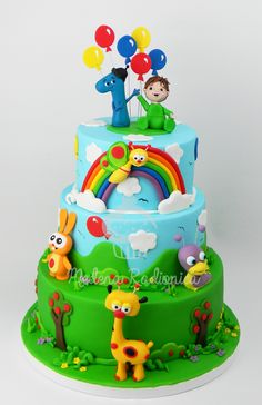 Torta Baby Tv Cake, Baby Boy Birthday Cake, Rainbow First Birthday, 1st Birthday Cakes, 1st Birthday Girls, Friends Cake, Cakes For Boys, 1st Birthdays, Cupcakes