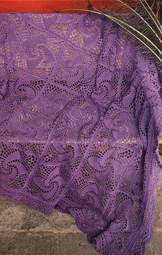 Lavoro a maglia uncinetto copriletto