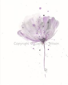 Violet   Original watercolor 8x10 by claireswilson on Etsy, $40.00