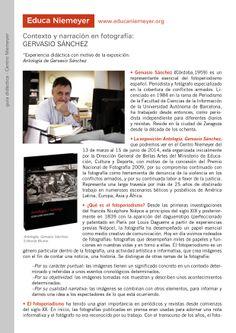 """Contexto y narración en fotografía: Gervasio Sánchez. Experiencia didáctica con motivo de la exposición: """"Antología de Gervasio Sánchez""""."""