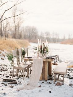 Untamed winter inspiration in Montana. Furniture featured from TOADNWILLOW in Magnolia Rouge.