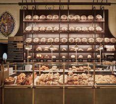 HARRODS | The #bakery @harrods with #freshloaves stacked high 🥖 ☕️ 🍰 #roastandbakehall #designedby #davidcollinsstudio #interiordesign… Deli Cafe, David Collins, Harrods, Restaurant Bar, Coffe Bar, Studio, Food, India, Instagram