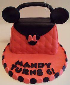 Minnie Mouse Purse Cake