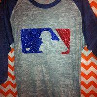 Glitter Baseball Tee, I'd Wear This!