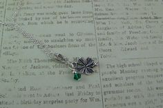 Four Leaf Clover Necklace Shamrock Necklace by CreatedinTheWoods, $18.95