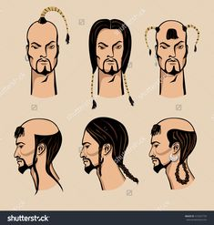 Image result for mongolian hairstyle