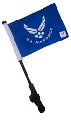 Small LICENSED US AIR FORCE Golf Cart Flag and Pole.  Buy it @ ReadyGolf.com