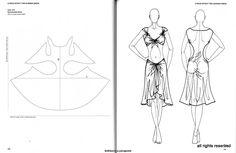 dessins et patrons de drapés