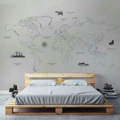 Image result for world map tumblr wallpaper room clothes and stuff map wallpaper gumiabroncs Choice Image