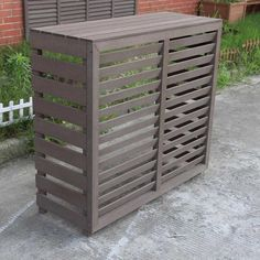 Air Conditioner Cover Outdoor, Air Conditioner Screen, Air Conditioner Parts, Pool Equipment Cover, Ac Cover, Small Garden Landscape, Covered Garden, Outdoor Decor, Outdoor Spaces